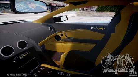 Lamborghini Reventon Polizia Italiana pour GTA 4 est une vue de l'intérieur