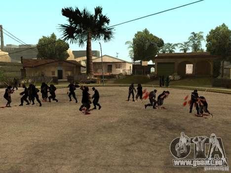 La lutte avec les katanas sur Grove Street pour GTA San Andreas deuxième écran