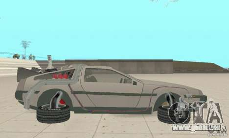 DeLorean DMC-12 (BTTF2) für GTA San Andreas linke Ansicht