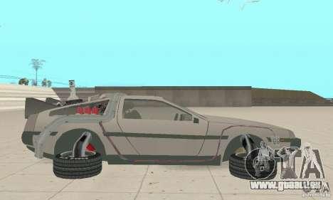 DeLorean DMC-12 (BTTF2) pour GTA San Andreas laissé vue