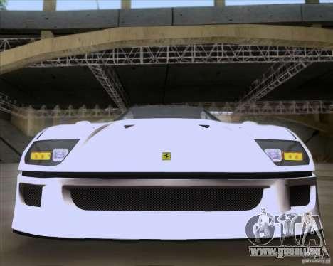 Ferrari F40 für GTA San Andreas Seitenansicht
