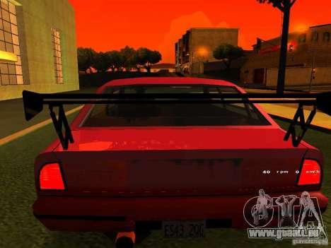 Emperor GT pour GTA San Andreas vue arrière