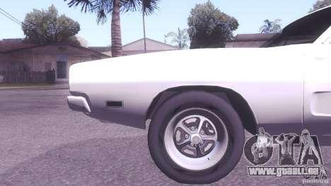 Dodge Charger R/T für GTA San Andreas Rückansicht