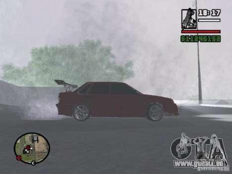 VAZ 2115 TUNING für GTA San Andreas zurück linke Ansicht