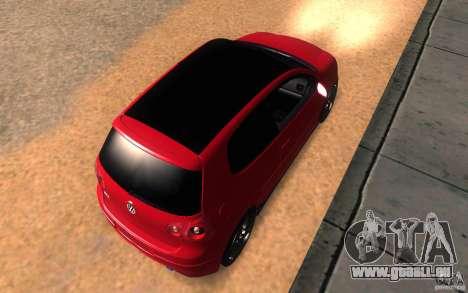 VolksWagen Golf GTI MK5 pour GTA San Andreas vue arrière