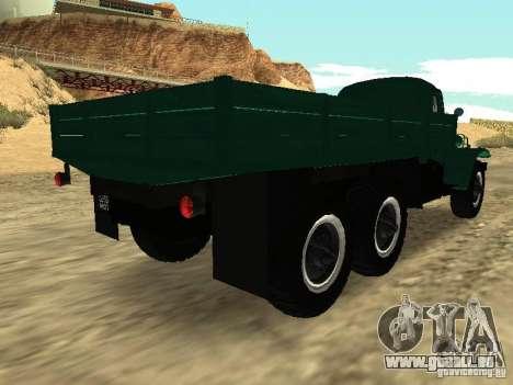 ZIL 157 pour GTA San Andreas sur la vue arrière gauche