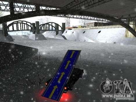 Pickup-Sprungbrett für GTA San Andreas linke Ansicht