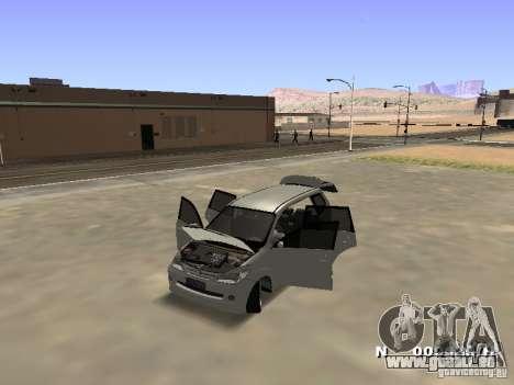 Toyota Avanza Street Edition pour GTA San Andreas vue arrière