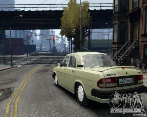 Volga gaz 3110 pour GTA 4 est une vue de l'intérieur