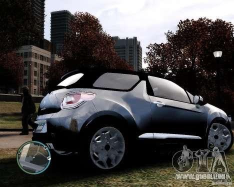 Citroen DS3 2011 für GTA 4 Rückansicht