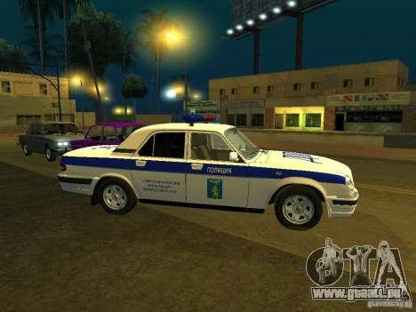 GAZ 31105 Police pour GTA San Andreas laissé vue