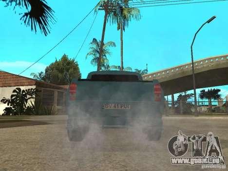 Dacia 1400 Pickup Battle Machine pour GTA San Andreas laissé vue