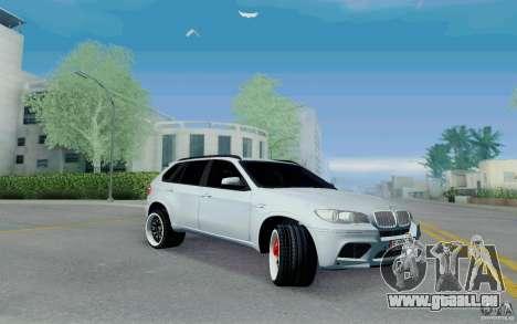 BMW X5M E70 pour GTA San Andreas laissé vue