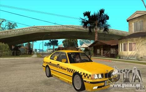 BMW 525tds E34 Taxi pour GTA San Andreas vue arrière
