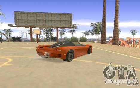 Veloche voiture pour GTA San Andreas vue de droite