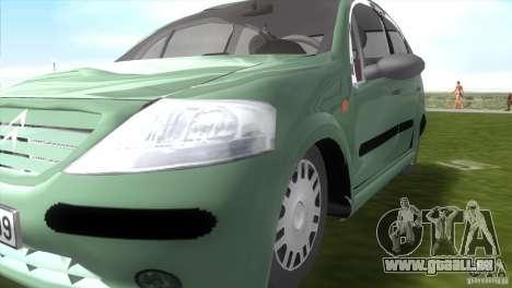 Citroen C3 pour une vue GTA Vice City de la droite