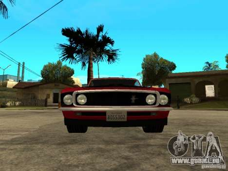 1969 Ford Mustang Boss 302 pour GTA San Andreas vue de droite