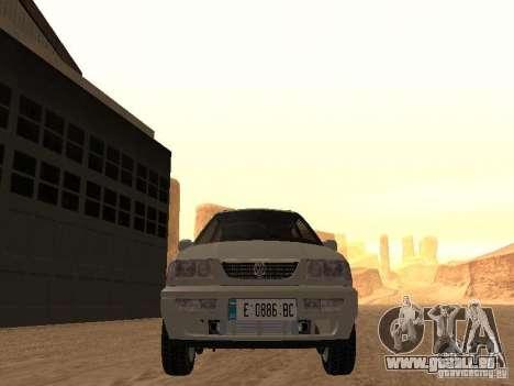 Volkswagen Passat B4 pour GTA San Andreas vue intérieure