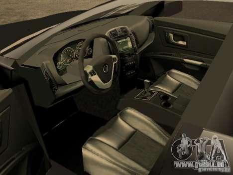 Cadillac CTS pour GTA San Andreas sur la vue arrière gauche