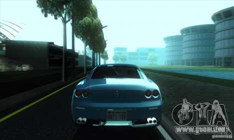 Ferrari 612 Scaglietti pour GTA San Andreas sur la vue arrière gauche