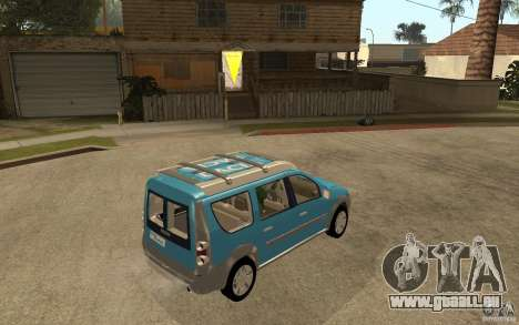 Dacia Logan Steppe Concept für GTA San Andreas rechten Ansicht