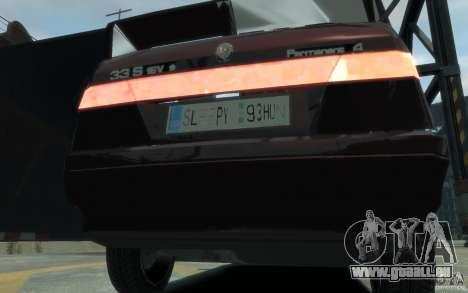 Alfa Romeo 33 pour GTA 4 Vue arrière