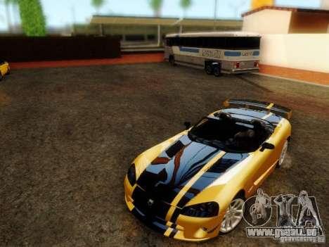 Dodge Viper SRT-10 Roadster ACR 2004 für GTA San Andreas zurück linke Ansicht