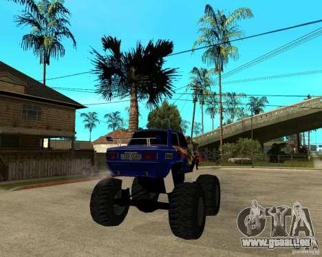 MONSTRE DE ZAZ pour GTA San Andreas sur la vue arrière gauche