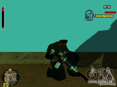 Blue weapons pack pour GTA San Andreas septième écran