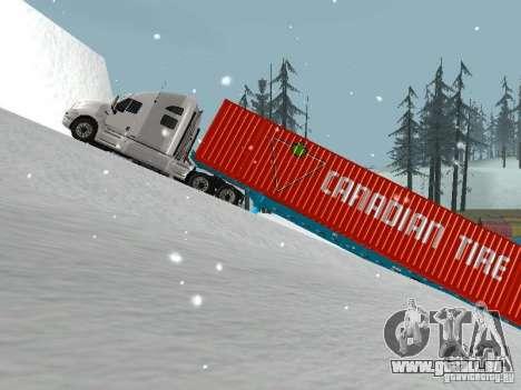 Remorque conteneur pour GTA San Andreas laissé vue