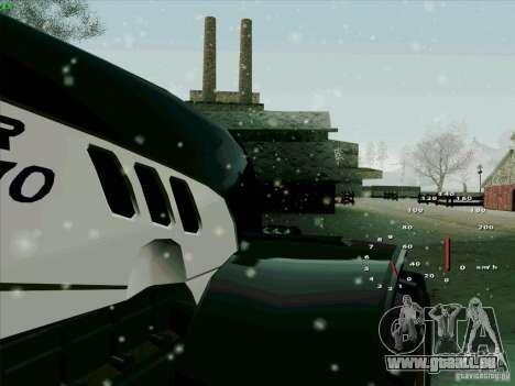 Steyr CVT 170 pour GTA San Andreas vue intérieure
