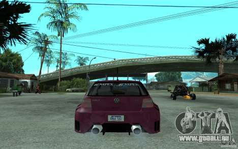 Volkswagen Golf GTI 4 Tuning pour GTA San Andreas sur la vue arrière gauche