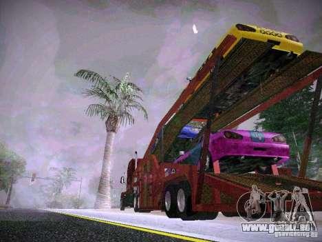 Auto Transporter Trailer für GTA San Andreas linke Ansicht