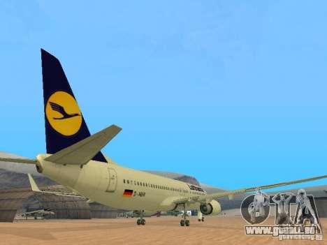 Boeing 737-800 Lufthansa für GTA San Andreas rechten Ansicht