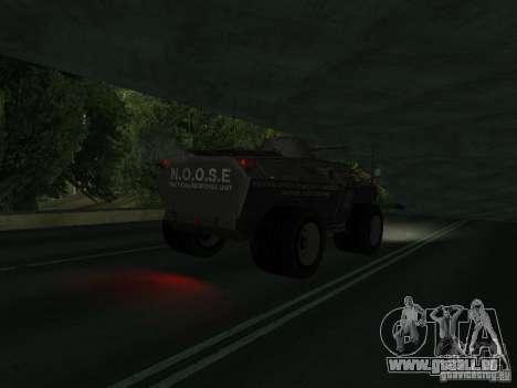 APC de GTA TBoGT FIV pour GTA San Andreas vue de droite
