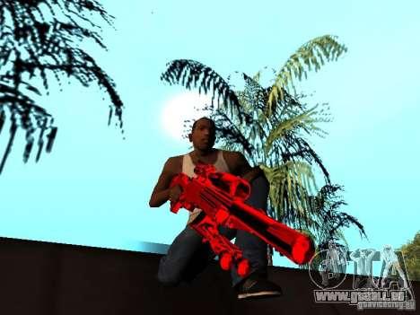 Red Chrome Weapon Pack pour GTA San Andreas douzième écran
