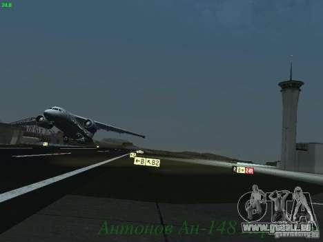 Antonow an-148 Aerosvit Ukrainian Airlines für GTA San Andreas Innenansicht