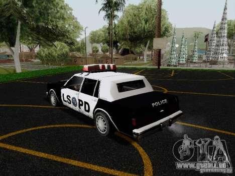 Greenwood Police LS pour GTA San Andreas sur la vue arrière gauche