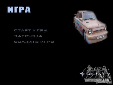 Le nouveau menu du jeu pour GTA San Andreas