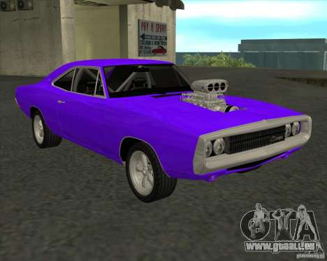 Dodge Charger RT 1970 The Fast and The Furious für GTA San Andreas zurück linke Ansicht