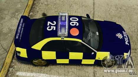 Subaru Impreza British ANPR [ELS] für GTA 4 rechte Ansicht