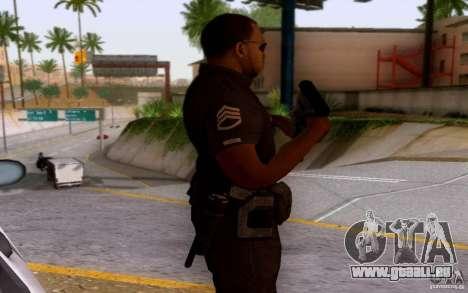Ein Polizist aus CoD: BO2 für GTA San Andreas dritten Screenshot