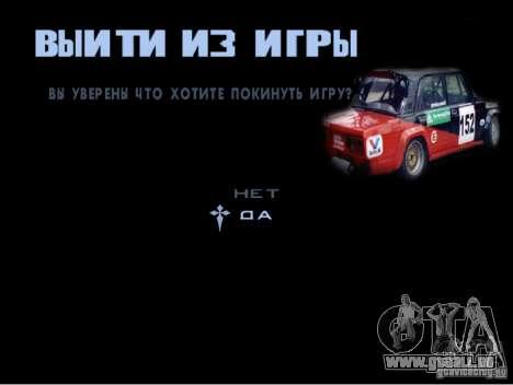 Le nouveau menu du jeu pour GTA San Andreas cinquième écran