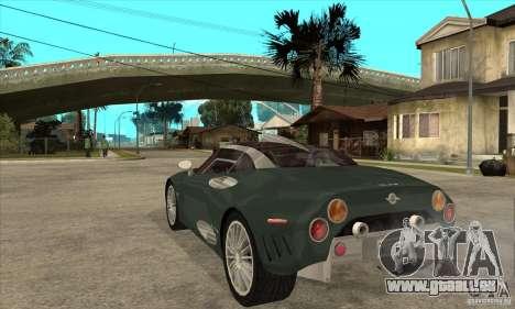 Spyker C8 Laviolete für GTA San Andreas zurück linke Ansicht