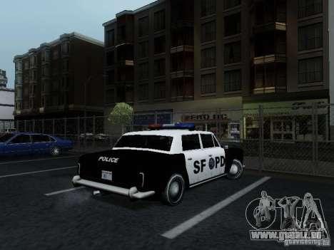 Stafford Police SF pour GTA San Andreas sur la vue arrière gauche