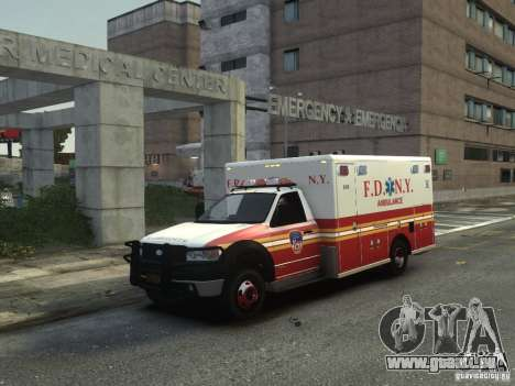 Ford F-350 Ambulance FDNY für GTA 4