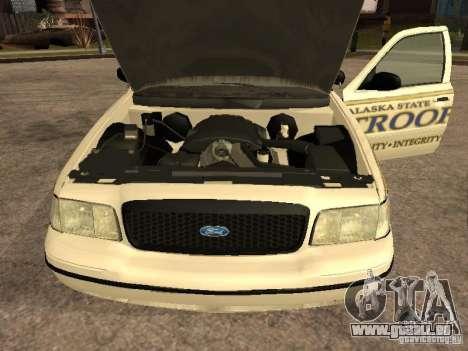 Ford Crown Victoria 2003 Police pour GTA San Andreas vue de droite