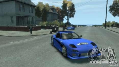 Mazda Rx7 C-WEST für GTA 4 linke Ansicht