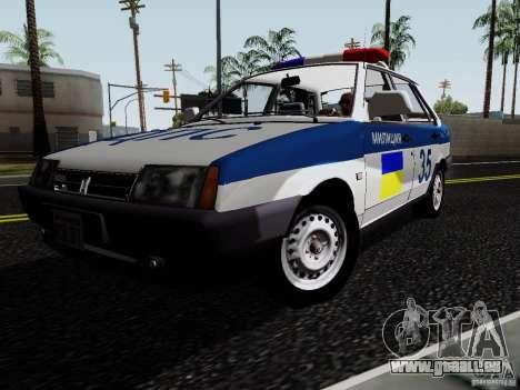VAZ 21099, police pour GTA San Andreas vue de droite