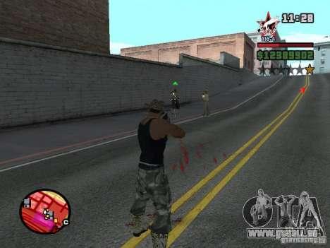 San Fierro and Los Santos Gang Zone für GTA San Andreas her Screenshot
